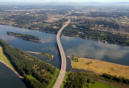 The Columbian River and Vancouver WA