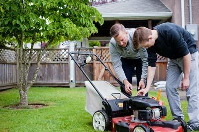 lawnmower maintenance