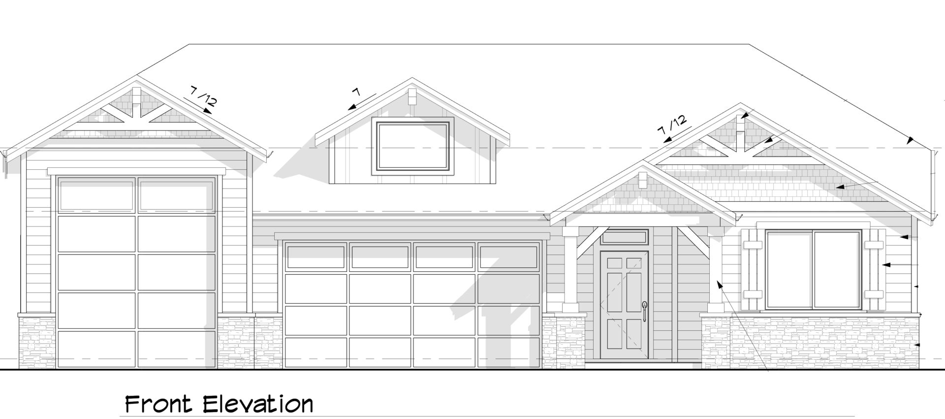 Sahalie plan exterior elevation